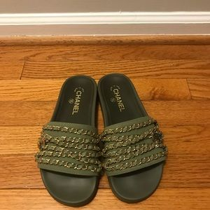 Chanel Tropiconic Chain Slides